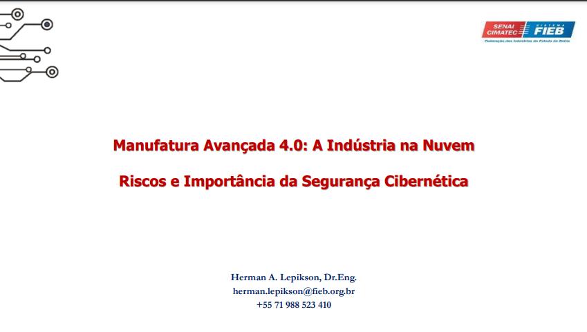 Palestra CLASS (2018) – Herman Augusto Lepikson (SENAI/CIMATEC)