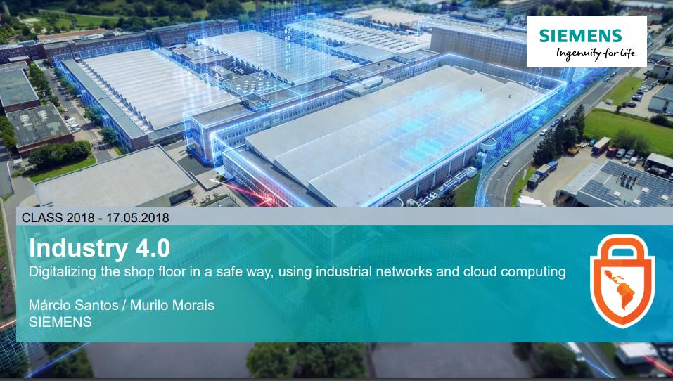 Palestra CLASS (2018) – Murilo Morais e Márcio Santos (Siemens)