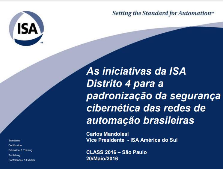 Palestra CLASS (2016) – Carlos Mandolesi (ISA)