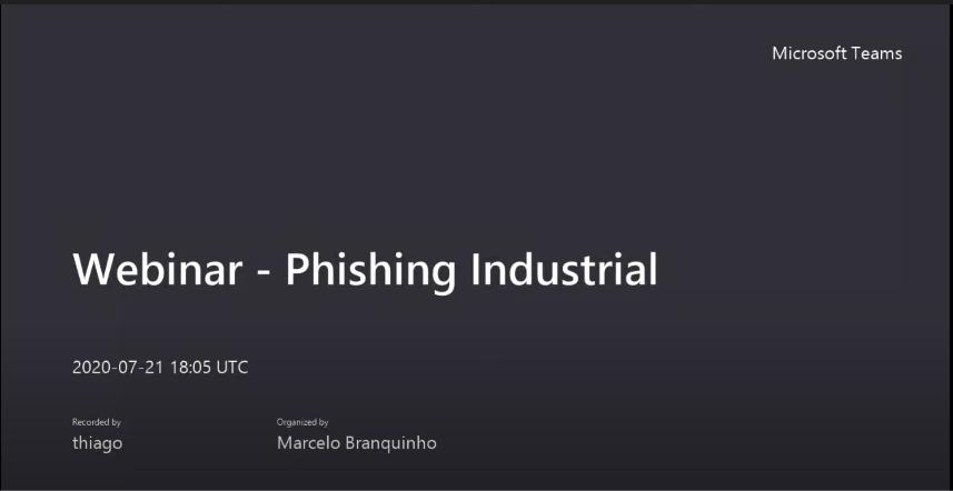 (Webinar) Phishing nas indústrias – Quando o alvo é você